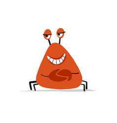 Funny crab sketch for your design vector