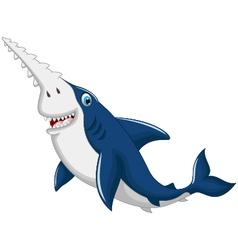 Funny shark saws cartoon vector