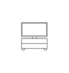 furniture tv cabinet outline icon isolated sign vector image