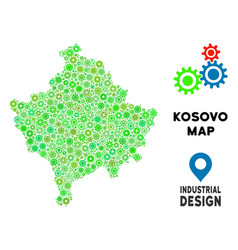 Gears kosovo map collage vector