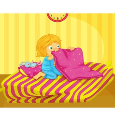 Girl awake vector image