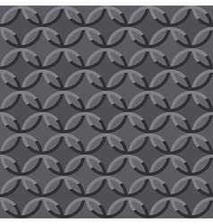 Gray seamless embossed ornate pattern vector