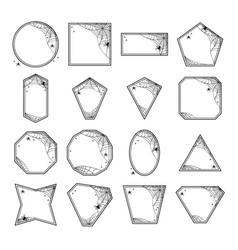Halloween geometric frames vector