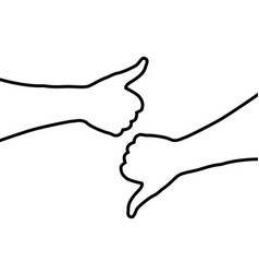 Hand - thumb up - thumbs down vector