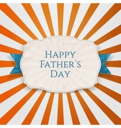 Happy Fathers Day festive Tag with blue Type vector