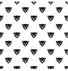 Head furious polar bear pattern seamless vector