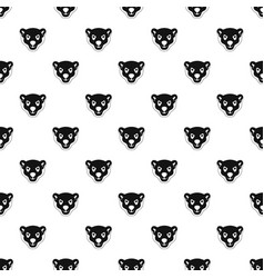 head of furious polar bear pattern seamless vector image