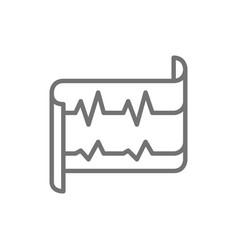 heartbeat ecg electrocardiogram line icon vector image