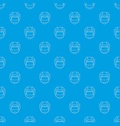 hockey helmet pattern seamless blue vector image
