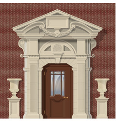 Image stone entrance vector