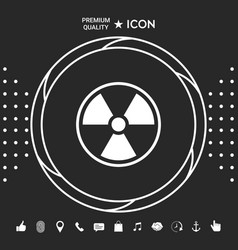 Ionizing radiation icon graphic elements for vector