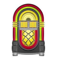 Isolated neon wurlitzer jukebox vector
