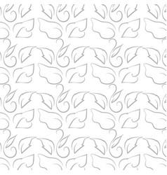 leaf line pattern on white background vector image