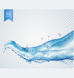 Light blue water or liquid flowing in wavy style vector