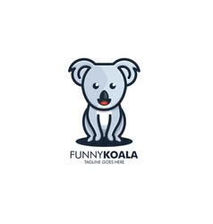 logo funny koala simple mascot cartoon vector image