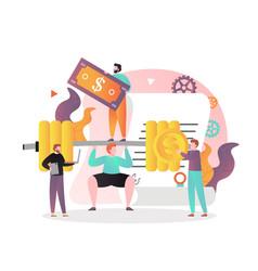 make money concept for web banner website vector image