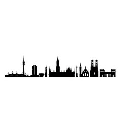 munich city germany landmark buildings silhouette vector image