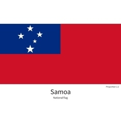 National flag of Samoa with correct proportions vector