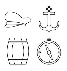 Ocean and travel symbol vector