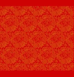 Om seamless pattern vector