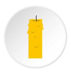 Paraffin candle icon circle vector