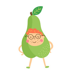 Pear boy vector