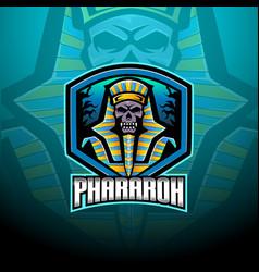 Pharaoh esport mascot logo design vector