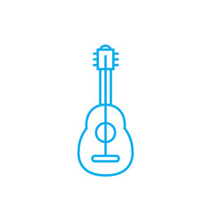 playing guitar linear icon concept playing guitar vector image