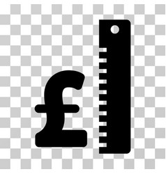 Pound rate icon vector