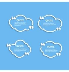 Quote outline cloud set vector