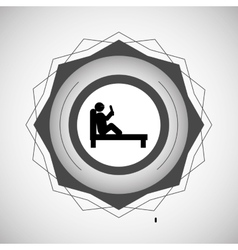 reading design seal stamp icon Isolated image vector image vector image