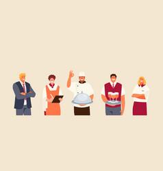 Restaurant staff people vector