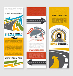 road service or travel company banners set vector image