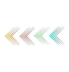 Set of arrows with halftone effect vector
