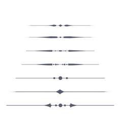 Set of decorative text dividers vector