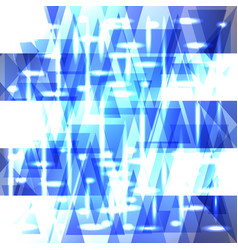 Shiny sky blue pattern of shards and stripes vector