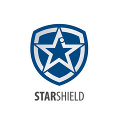 star shield logo concept design symbol graphic vector image