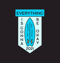 summer adventure sticker badge design surf emblem vector image