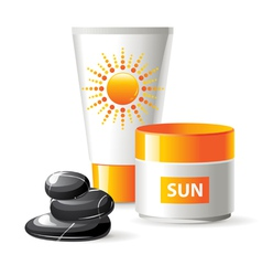 sun care vector image