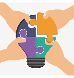 Teamwork and puzzle design vector image