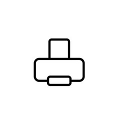 thin line printer icon vector image