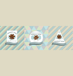 three colored labels with horse vector image