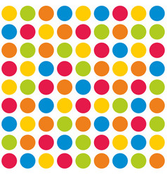 tile colorful polka dots pattern on white vector image