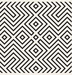 Trendy monochrome line lattice seamless vector