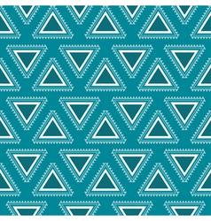 Tribal blue seamless pattern vector