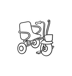tricycle hand drawn outline doodle icon vector image