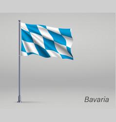 Waving flag bavaria - state germany vector