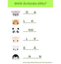welche buchstaben fehlen - what letters are vector image