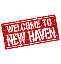 Welcome to new haven stamp vector