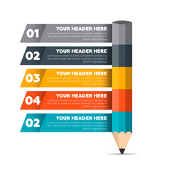 infographics elements five steps process vector image vector image